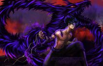 Hiei and the dragon of the darkness flame by zazzycreates d9atx5i-fullview