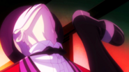 Kagetane evades Rentaro's kick