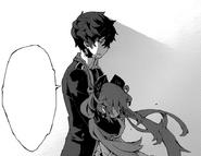Rentaro holds Enju