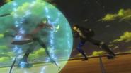 Kage blocks Rentaro
