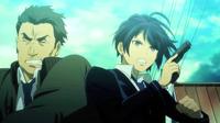 Rentaro pushes Tadashima out of the way