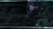 Rentaro jumps from the heli