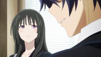 Kisara questions Rentaro