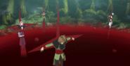 Campo de Execução Manchado de Sangue Fresco