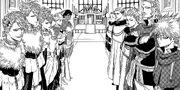Capitanes y Caballero Mágicos en la Ceremonia