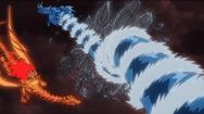 Dragão do mar quebrando cristal