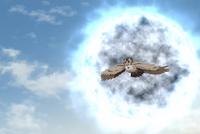 Fenda anjo caido entregando encomenda
