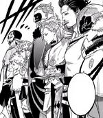 Les capitaines réunis au donjon