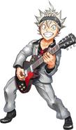 Asta con una guitarra