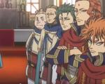 Les chevaliers rassemblés pour la cérémonie