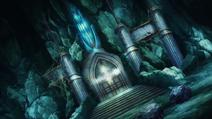 Treasury door of volcano dungeon