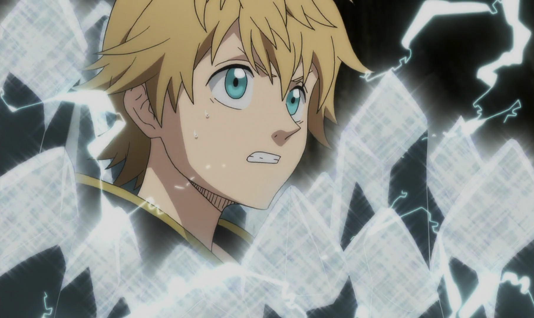 File:Luck tries to break crystal with lightning.png