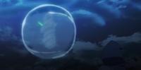 Esfera de afogamento yuno com casulo de vento