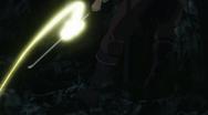 Chicote agarrado na espada de yami