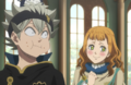 Mimosa interacting with Asta during the banquet.png