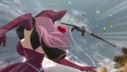 Vanessa throws Asta at terrorists