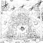 Porte centrale d'un donjon