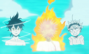 Leopold competes with Asta and Yuno