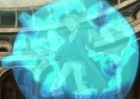 Sekke activating his magic