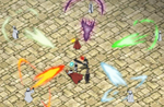 Asta against five rogue mages