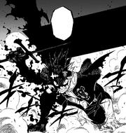 Black Asta overcome with rage