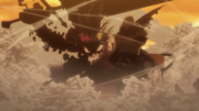Black Asta overcome with rage