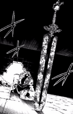 Asta finds a sword in the dungeon