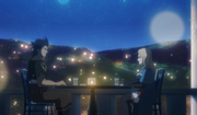 Charlotte and Yami have dinner
