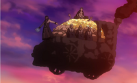 Locomotiva do vigário voando