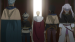 Julius taking several Knights to a ceremony