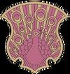 Coral Peacock Insignia