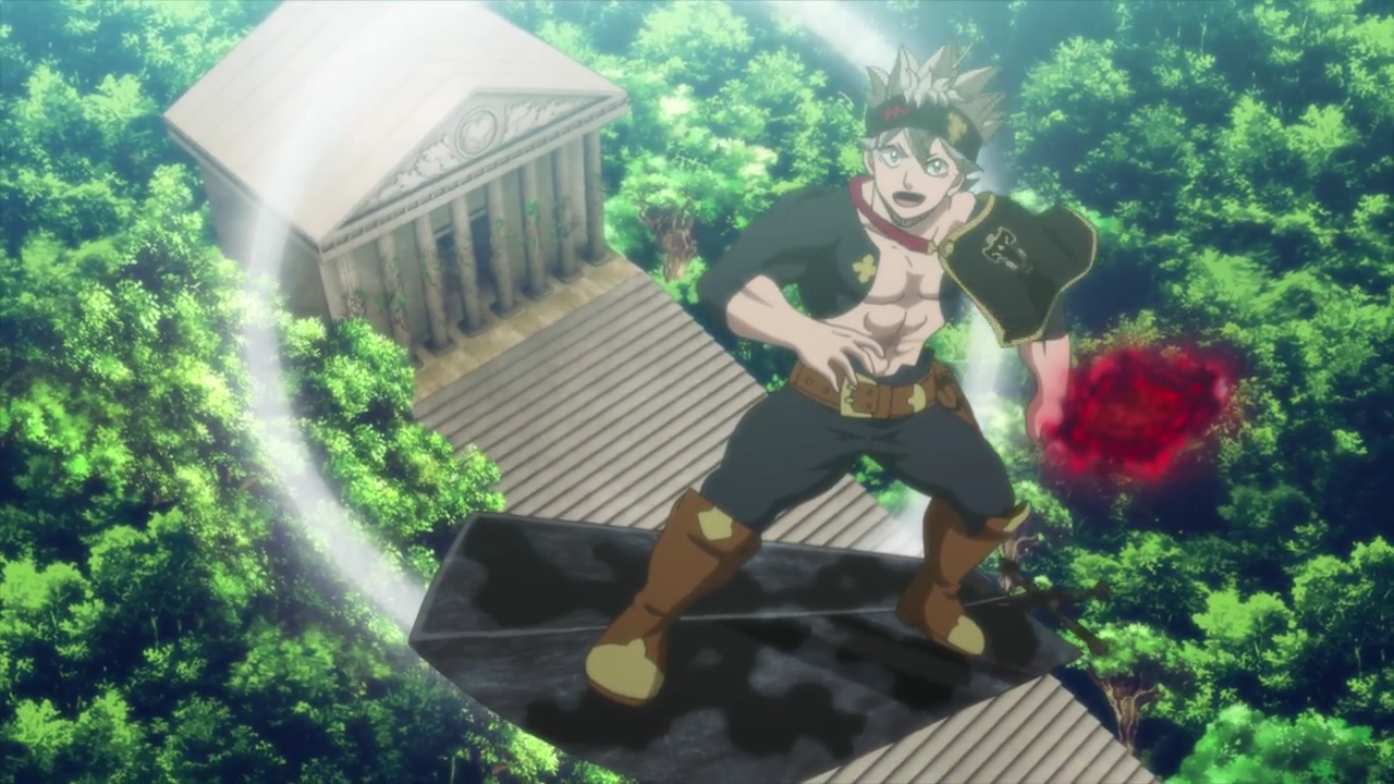 Asta surfs on Demon-Slayer Sword