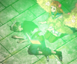 Mimosa attending to Asta injury
