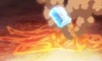 Transformação de corpo em agua-tornando-se agua para fugir de magia de restrição d fogo