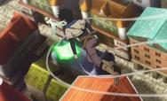 Yuno voando com magia de vento