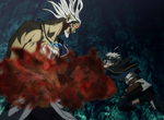 Vetto crushes Asta's arms