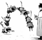Charmy faints from Yuno
