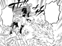 Fuegoreon taking Noelle to battlefield