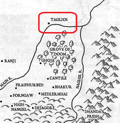 Map of Taglios