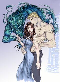 Rhage und Mary blau
