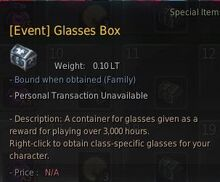 Challenge glasses