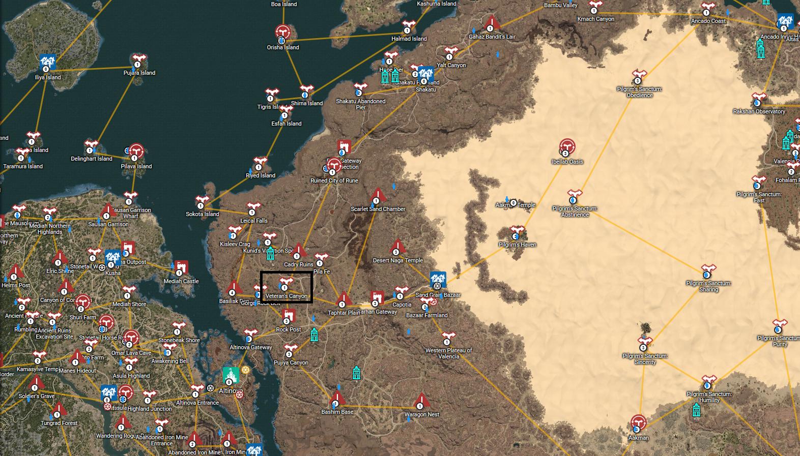 Black Desert Map – Texkox