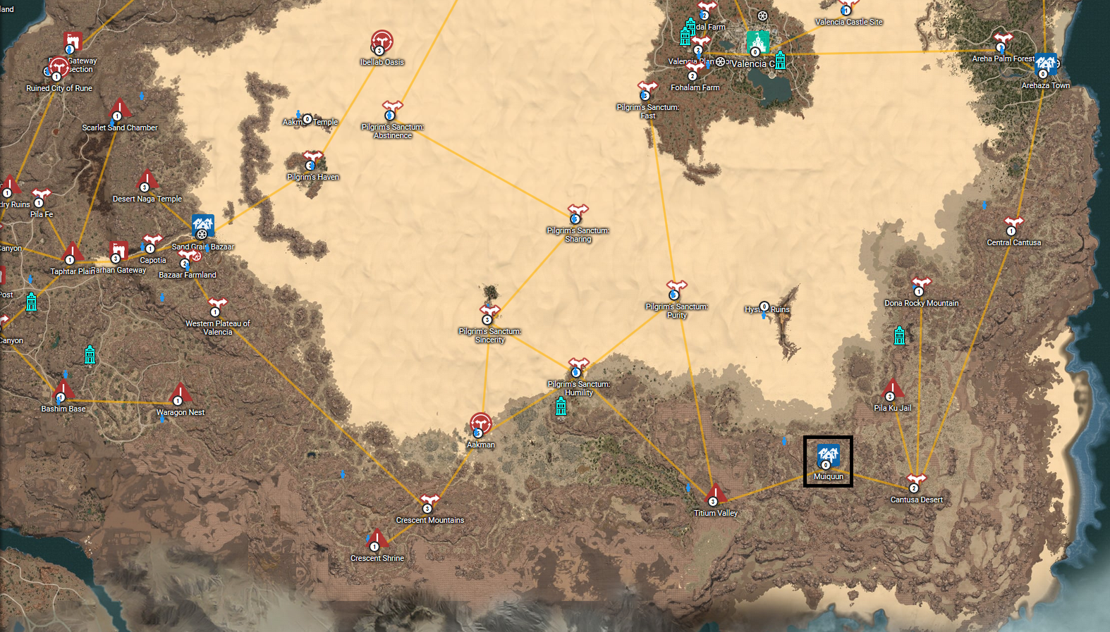 Muiquun black desert wiki fandom powered by wikia location on world map gumiabroncs Images