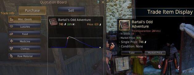 Tradegood purchase
