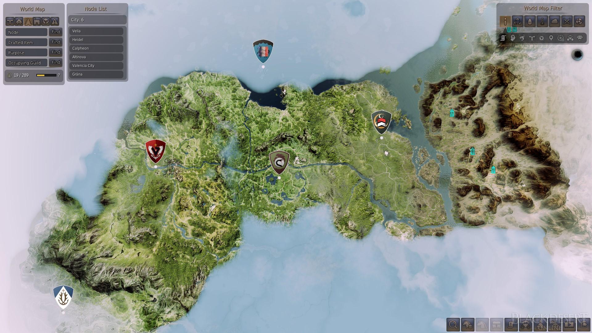 Black Desert Online World Map World Map | Black Desert Wiki | Fandom