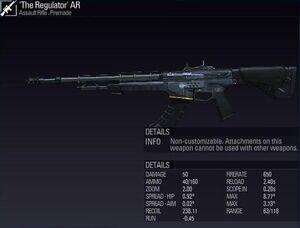 'The Regulator' AR 3