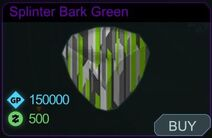 Splinter Bark Green-Menu