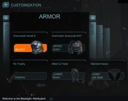 Armor Menu