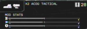 X2 ACOG Tactical