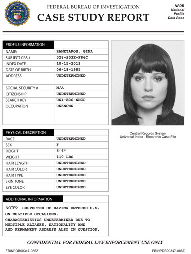 Image - Gina Zanatakos Case Study.jpg   The Blacklist Wiki   FANDOM ...